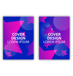cover design poster with stars and colorful vector image