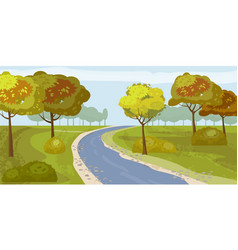 Cute landscape forest river trees on shore vector