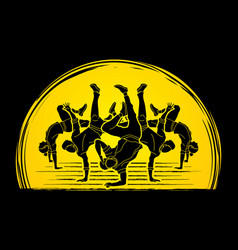 Dancer dancing people group of people dancing vector
