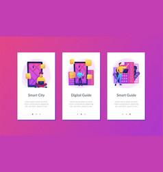 digital city guide and smart city concept app ui vector image