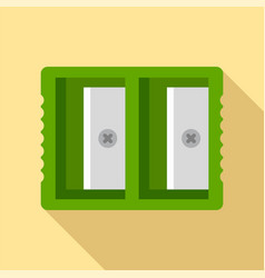 Double sharpener icon flat style vector