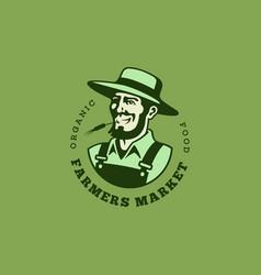 farmer logo vector image