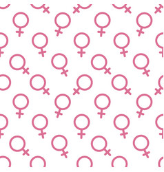 female sex symbol icon seamless pattern vector image