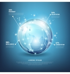 global networks infographics vector image