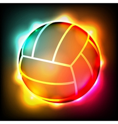 Glowing Volleyball vector