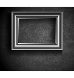Grunge Picture Frame on Beton Wall vector image vector image