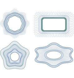 Guilloche element vector image