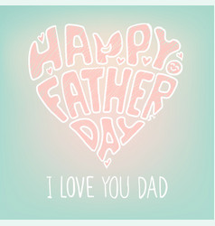 Happy Father's Day Illustration vector image