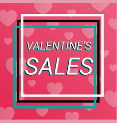happy st valentine day banner or background sale vector image