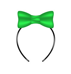 Headband with bow in green design vector