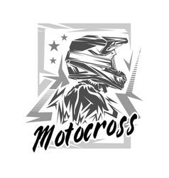 helmet motocross motocross vector image