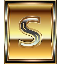Ingot Font Letter s vector image