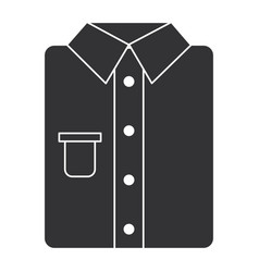 ironed shirt isolated icon vector image