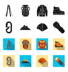 Isolated object of mountaineering and peak icon vector