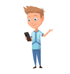 Kid using gadget child and modern technology vector