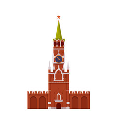 kremlin tower as famous city landmark and travel vector image