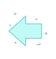 left arrow icon design vector image