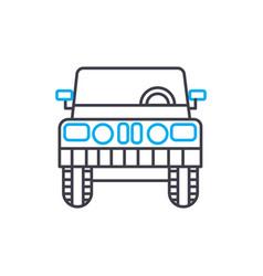 light truck thin line stroke icon light vector image