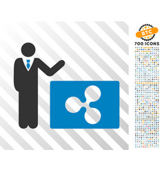 Manager show ripple flat icon with bonus vector