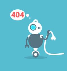 Modern robot connection error message artificial vector