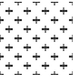 Railroad crossing pattern seamless vector