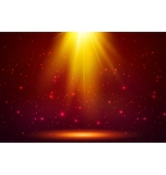 Red magic top light background vector image