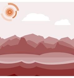 Red morning landscape vector image