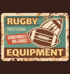 rugequipment rusty metal plate advertising vector image