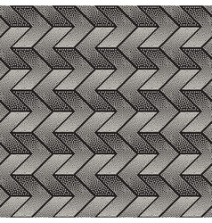Seamless Black and White Stippling Chevron vector image