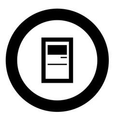 service terminal black icon in circle vector image