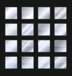 silver background gradient texture set vector image