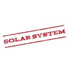 Solar System Watermark Stamp vector