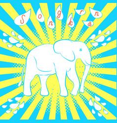 Songkran new year in thailand white elephant vector