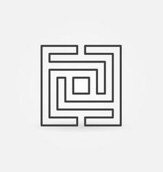 Square maze or labyrinth icon vector