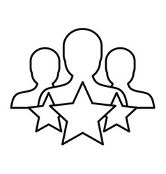 Star customer retention icon outline style vector