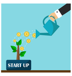 start a business and first contributions vector image