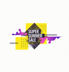 super summer sale abstract background vector image