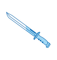 Sword weapon vintage war decoration image vector