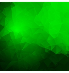 Trendy abstract green frame vector image