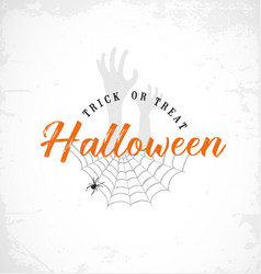 Typographic halloween design element vector