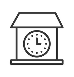 vintage house wall clock icon outline design vector image