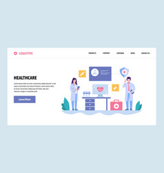 Web site gradient design template doctor vector