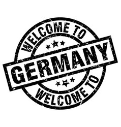 welcome to germany black stamp vector image
