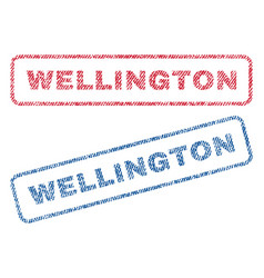 Wellington textile stamps vector