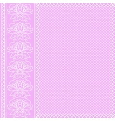 White ornament on pink background vector