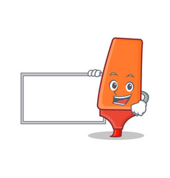with board highlighter cartoon character style vector image