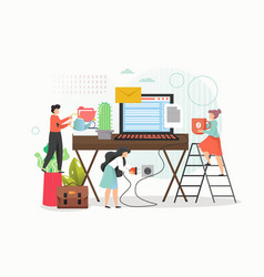 work from home concept flat vector image