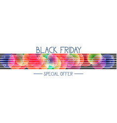 black friday special offer horizontal banner over vector image vector image