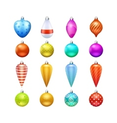 Christmas Toys Icons Set vector image