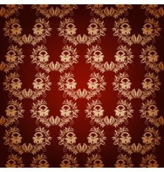 seamless with vintage damask ornament vector image vector image